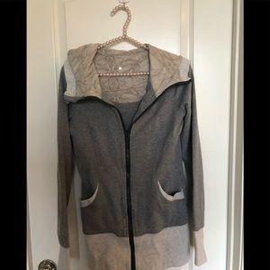 Lululemon gray scuba jacket Sz.6